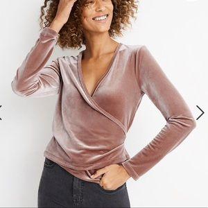 Madewell celvet wrap blouse Sz XXL